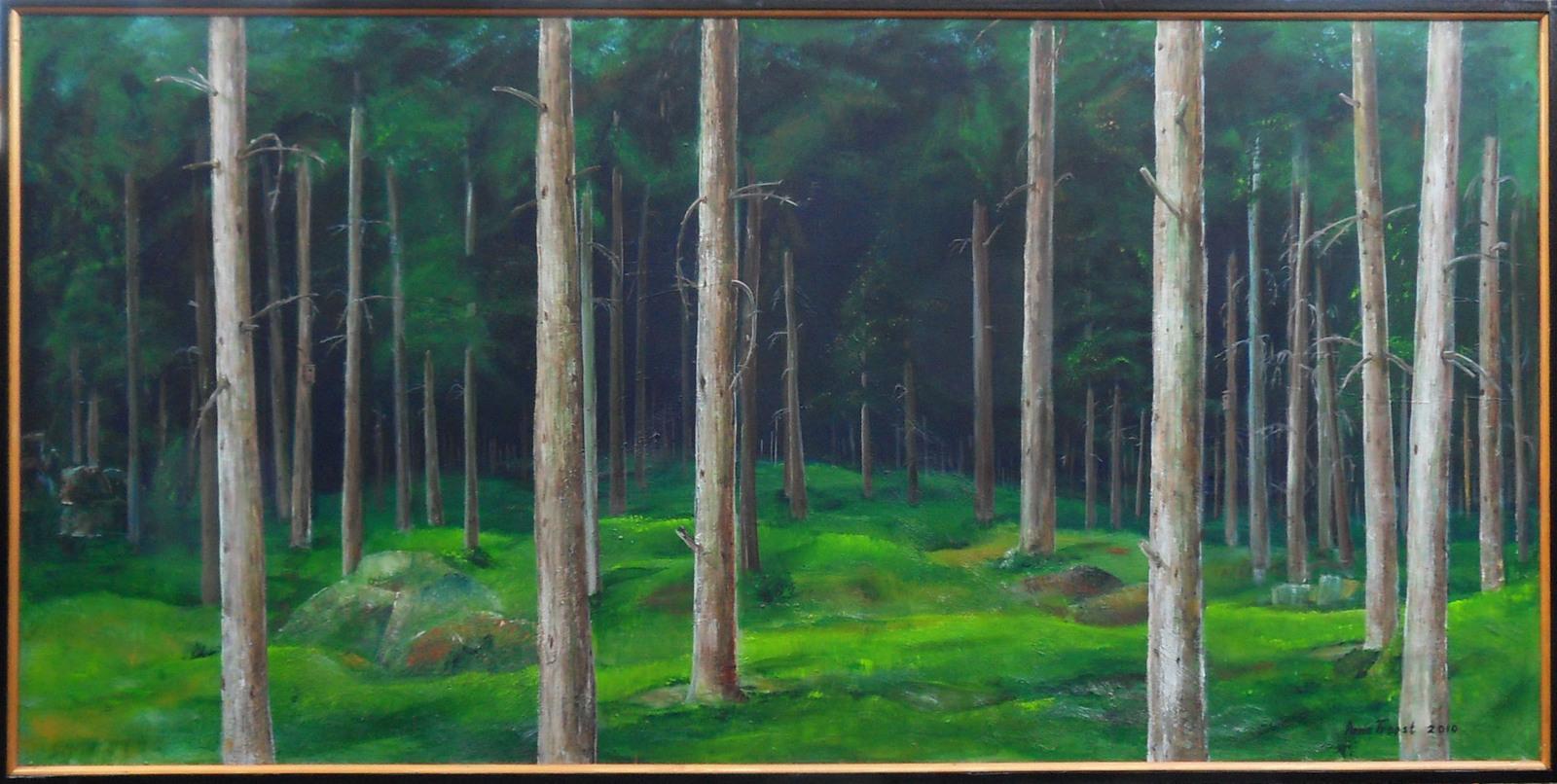 Anna Troost, skog