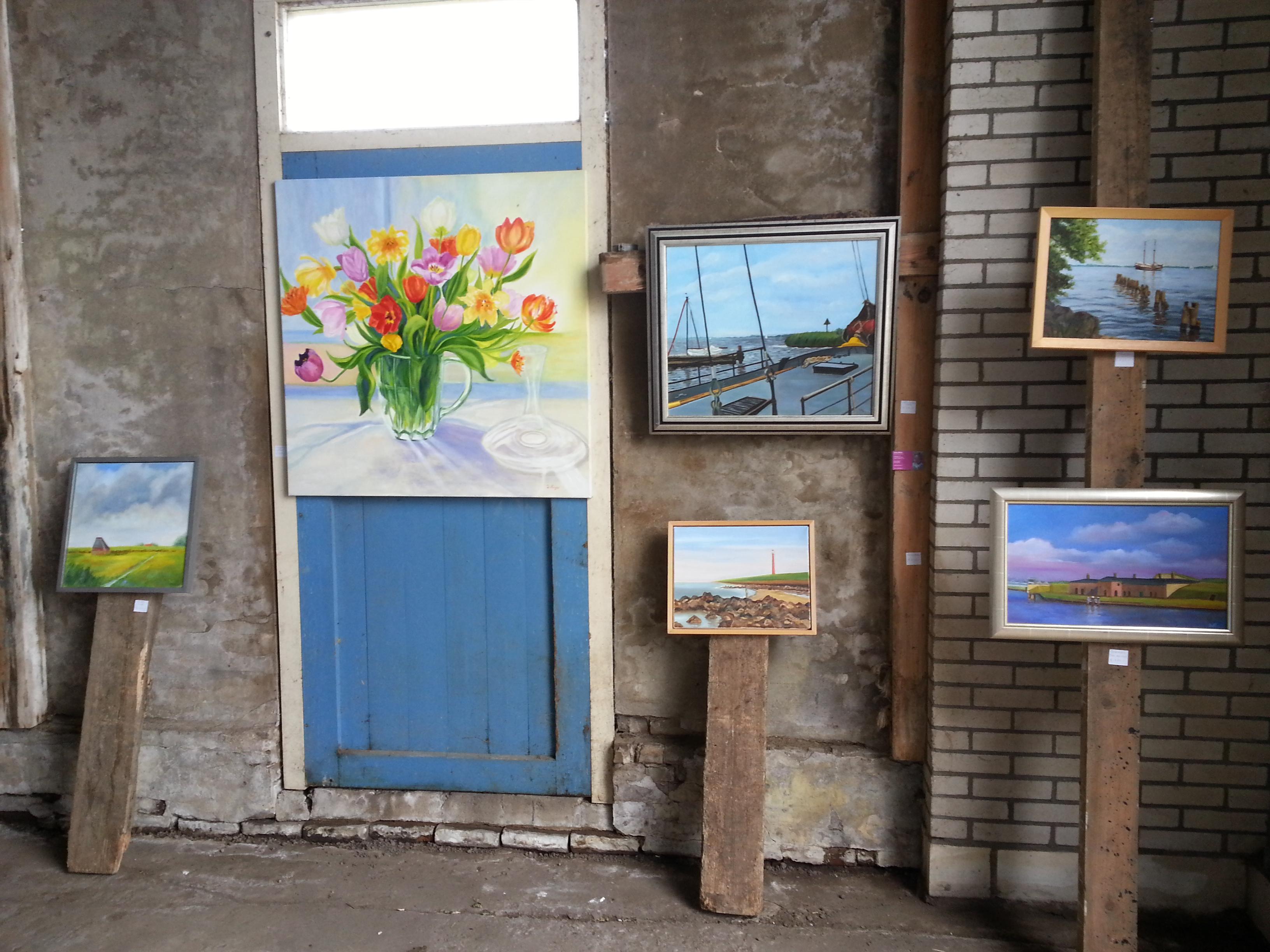 Ineke Meijer tijdens Kunstroute Art Callantsoog 2017